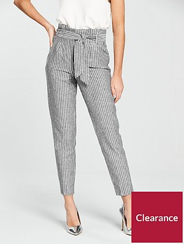 miss-selfridge-linen-stripe-trouser