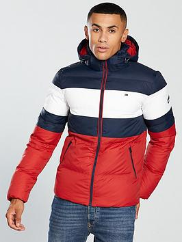 tommy-jeans-stripe-hooded-padded-jacket-red