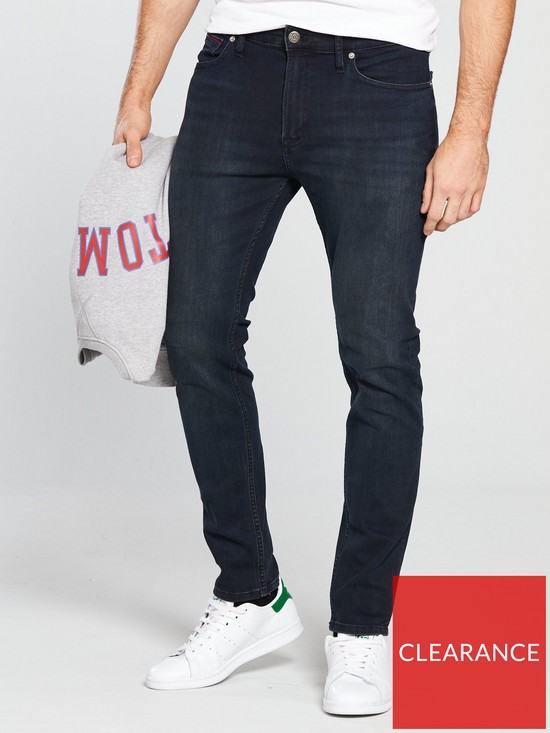 dfd6b0de Tommy Jeans Simon Skinny Fit Jean - Black | very.co.uk