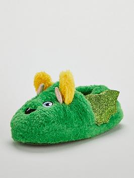 mini-v-by-very-boys-little-monster-fluffy-3d-slippers-green