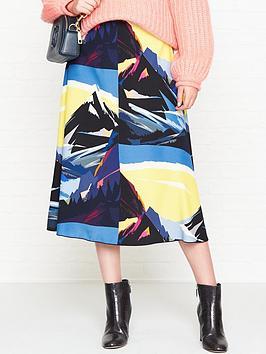 sportmax-code-marina-printed-a-line-midi-skirt-multicolour