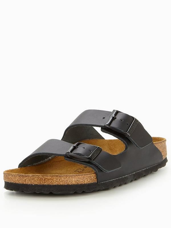 sale retailer 81904 8a696 Arizona Narrow Two Strap Slide Sandal - Black