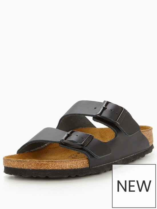 6f61d0e781b Birkenstock Arizona Narrow Two Strap Slide Sandal - Black | very.co.uk
