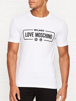 love-moschino-milano-print-slim-fit-t-shirt-white
