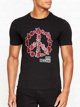 love-moschino-rose-peace-sign-slim-fitnbspt-shirt-black