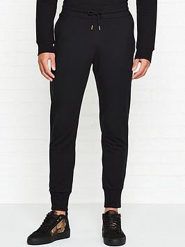 love-moschino-logo-plaque-slim-fit-joggers-black