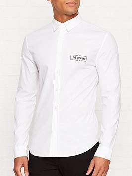 love-moschino-logo-detail-slim-fit-shirtnbsp--white