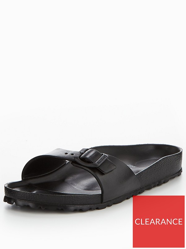 Madrid Lightweight EVA Fit Flat Sandals Black