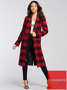 michelle-keegan-checked-edge-to-edge-coat