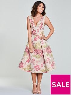 Myleene Klass Jacquard Prom Dress - Floral b3d3573aa