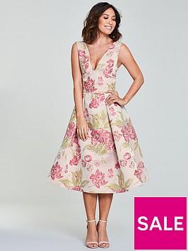 myleene-klass-jacquard-prom-dress-floral