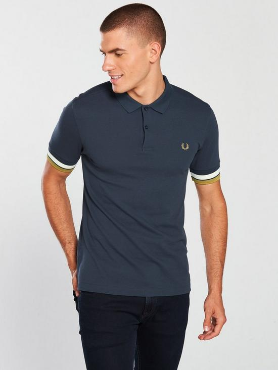 c5db2cc1 Fred Perry Bold Cuff Polo Shirt | very.co.uk