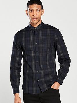 fred-perry-contrast-stripe-tartan-shirt