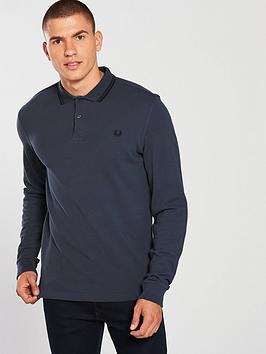 fred-perry-fred-perry-twin-tipped-long-sleeve-polo-shirt