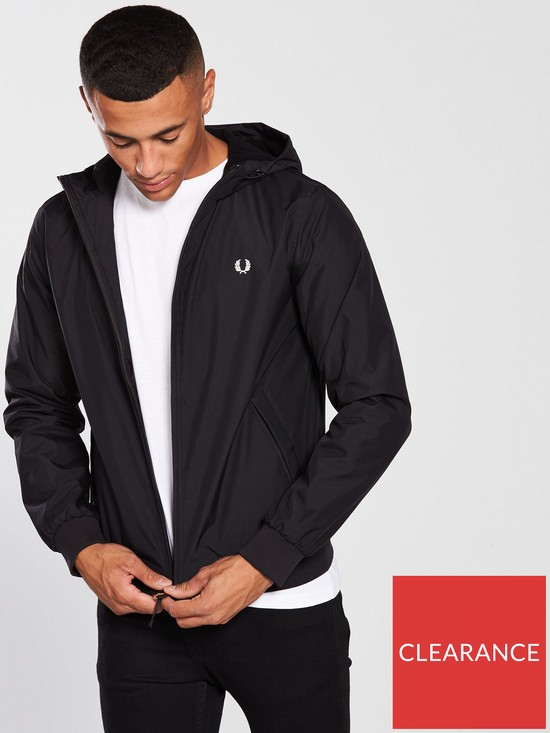 46b79412a Fred Perry Mens Hooded Brentham Jacket - Black