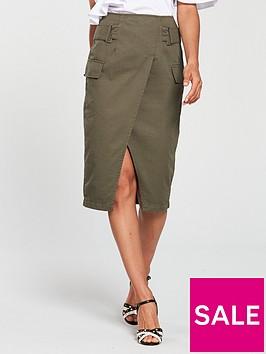 v-by-very-high-waisted-cargo-midi-skirt-khaki