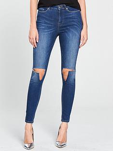 v-by-very-ella-high-waisted-busted-knee-skinny-jean-dark-wash
