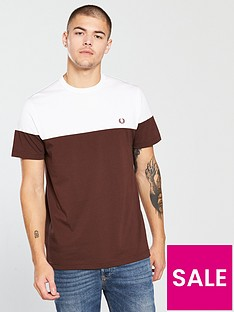 fred-perry-panelled-t-shirt