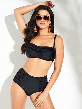 Pour Moi Fiesta Strapless Underwired Bikini Top - Black