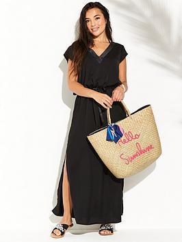 Pour Moi Jet Set Long Dress - Black