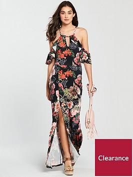 v-by-very-halterneck-cold-shoulder-jersey-maxi-dress-print