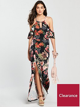 v-by-very-tall-halter-neck-cold-shoulder-jersey-maxi-dress-blackprint