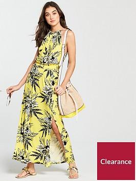 v-by-very-halterneck-sheered-waist-jersey-maxi-dress-yellow-print