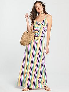v-by-very-bow-front-jersey-maxi-dress--nbsprainbow-stripe