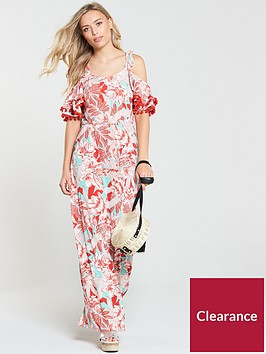 v-by-very-pom-pom-detail-jersey-maxi-dress-tropical-print