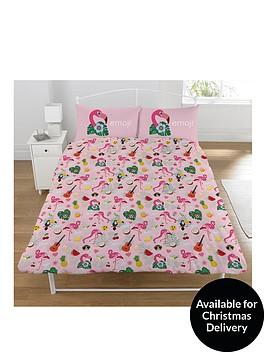 emoji-flamingo-duvet-cover-set