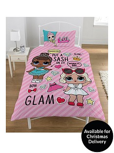 lol-surprise-glam-single-reversible-duvet-cover-set