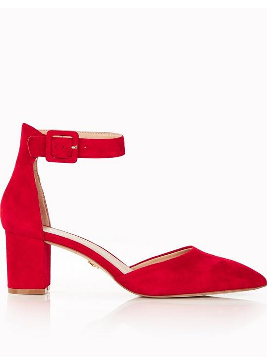b7a030c70ad Burlington Pointed Toe Block Heel Sandals - Red