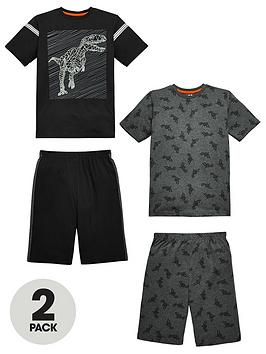 v-by-very-2-pack-dinosaur-short-pyjamas