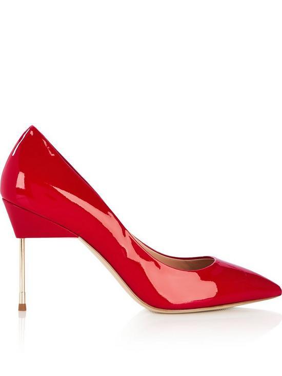fc4e63e79a5 Britton 90mm Patent Leather Heels - Red