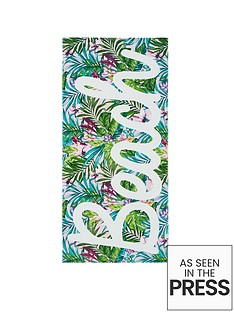 catherine-lansfield-tropical-beach-towel