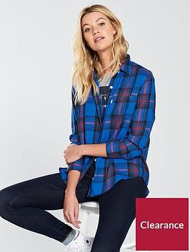levis-ultimate-boyfriend-check-shirt-blue