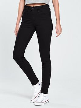 Levis 721 Skinny High Rise Jean  Black