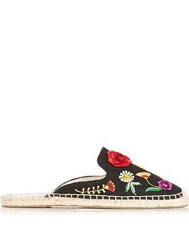 soludos-embellished-floral-mule-flats-black