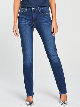 Levi'S 724 High Rise Straight Jean - Blue Denim