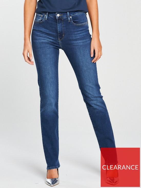 6c9d68169d9de Levi s 724 High Rise Straight Jean - Blue Denim