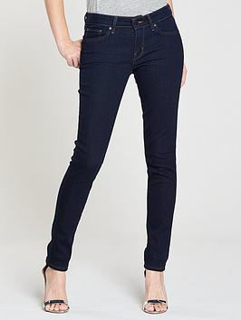 Levis 711 Mid Rise Skinny  Lone Wolf