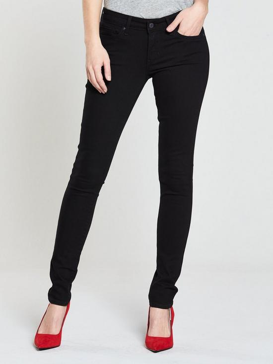 2635eac96d7f Levi's 711 Mid Rise Skinny Jean - Black   very.co.uk