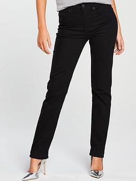 Levi'S 724 Straight Mid Rise Jean - Black