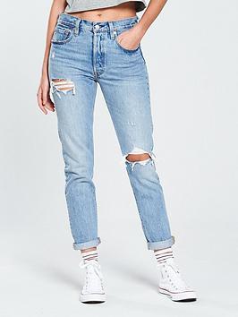 Levi'S 501&Reg; Crop Ripped Jean - Light Wash
