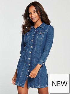 levis-levi039s-aubrey-western-denim-dress