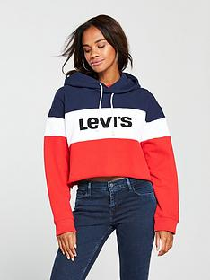 levis-levi039s-raw-cut-colourblock-cropped-logo-hoodie