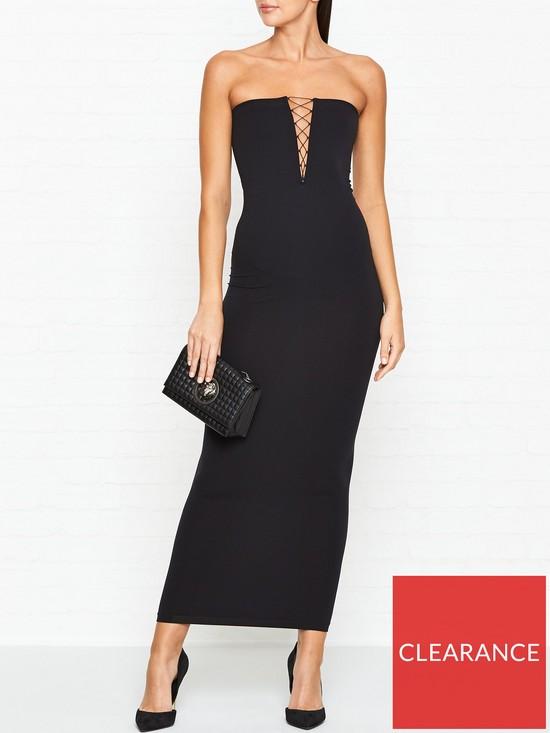 e30ebb89b371 WOLFORD Grace Lacing Detail Tube Dress - Black