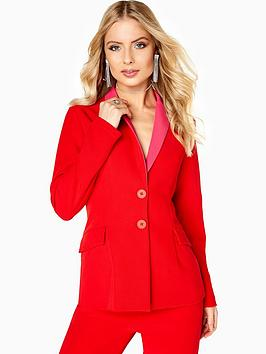 little-mistress-suit-jacket-co-ord-red