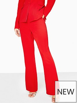 little-mistress-tailored-cigarettenbspsuit-trousers-co-ord-red