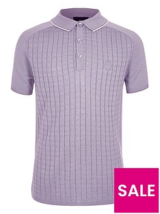 river-island-boys-short-sleeve-grid-polo-shirt